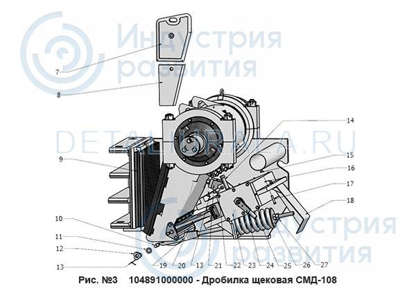 104891000000 - Дробилка щековая СМД-108 Рис 3