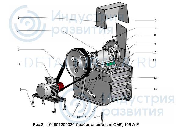 104901200020 - Дробилка щековая СМД-109 Рис 2