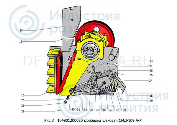 104901200020 - Дробилка щековая СМД-109 Рис 3