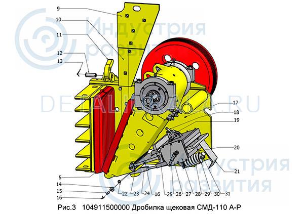 104911500000 Дробилка щековая СМД-110 Рис 3